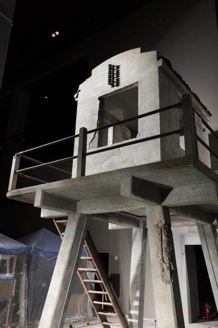 Tower on display in museum
