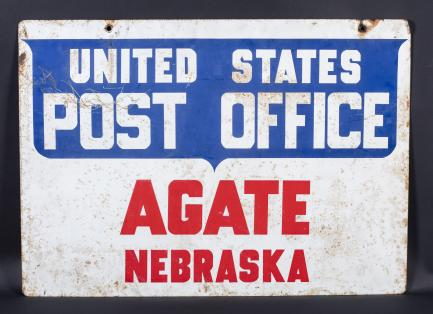 metal Post Office sign