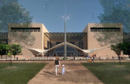 Artist rendering of updated exterior