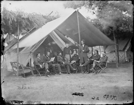 General Ulysses S. Grant and his Staff