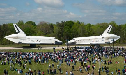 Space Shuttles Enterprise and Discovery