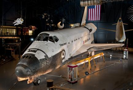 Space Shuttle Discovery located at the Steven F. Udvar-Hazy Center