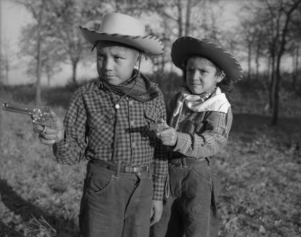Robert and Linda Poolaw as children