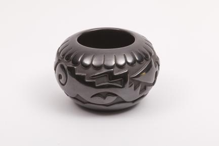 glazed pottery bowl