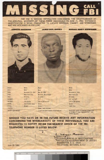 Missing FBI poster.