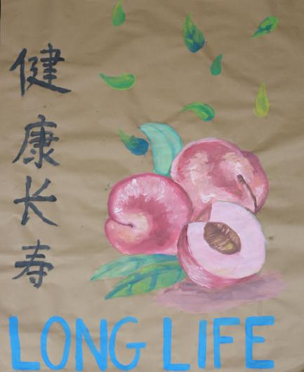 Poster with Chinese characters for Long Life