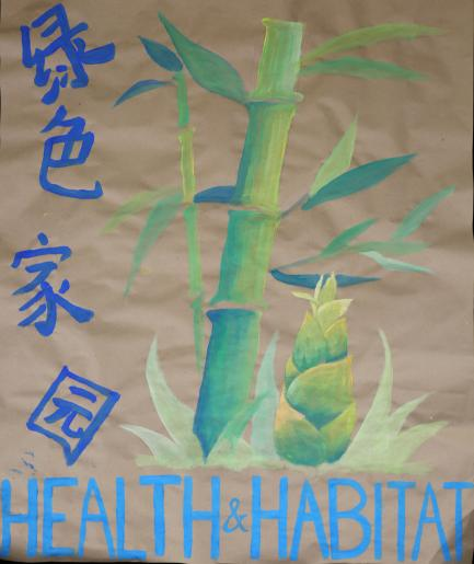 poster with Chinese characters for Health and Habitat