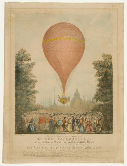 Print of hot air balloon