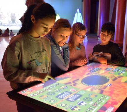 Children with touch screen table