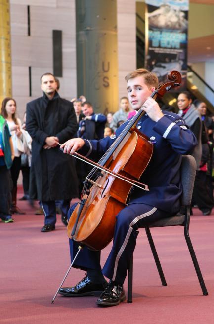 Cellist TSgt Edward Prevost