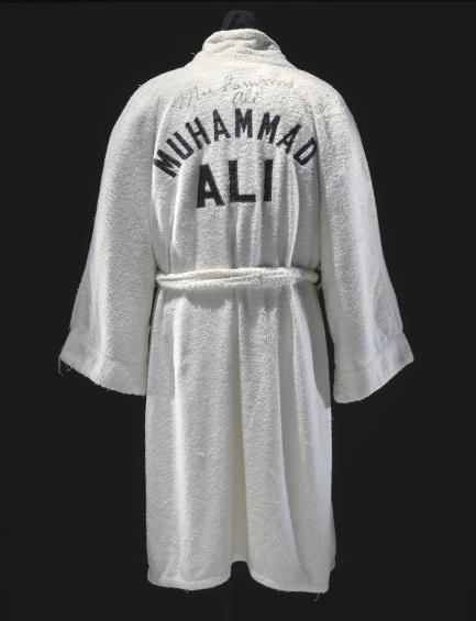 Ali's white boxing robe