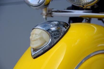 Motorcycle fender detail