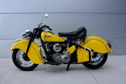Side view of yellow motorcycle
