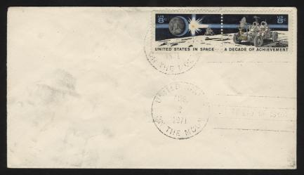 Apollo 15 Lunar Mail cover stamp