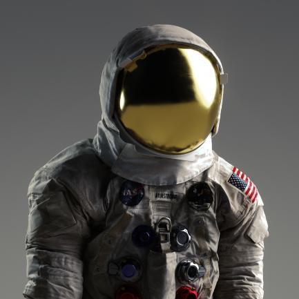 3-D Render of Neil Armstrong's Apollo 11 Spacesuit