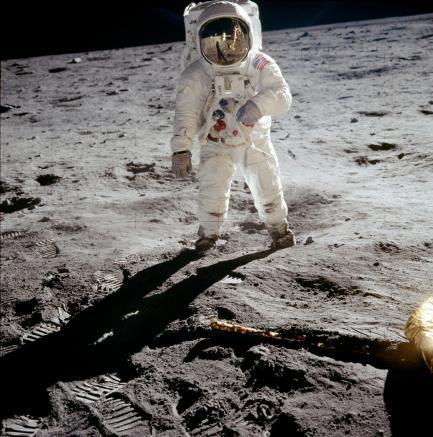 Aldrin on the moon