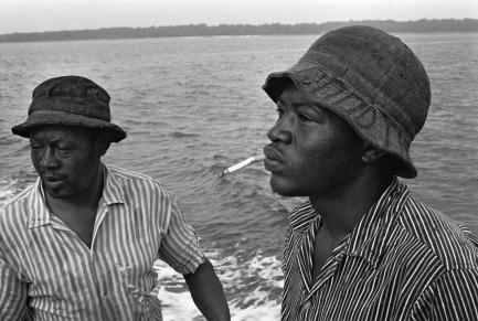 A shrimper and his son