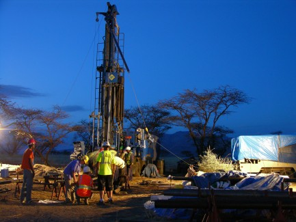 Drill site at night