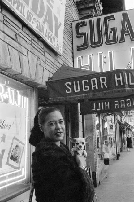 Billie Holiday with Dog