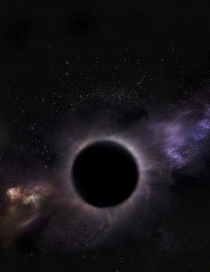 Artists rendering of black hole