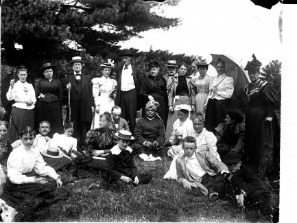 Swami Vivekananda and guests at Green Acre School in Maine