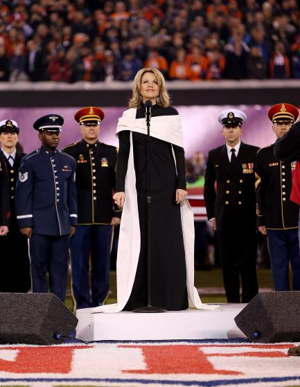 Renée Fleming's Super Bowl Gown and Wrap