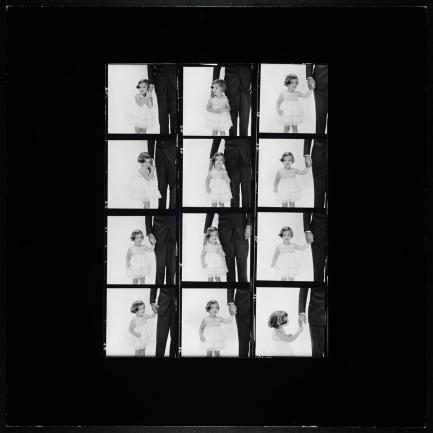 Black and White contact sheet of Kennedy photos