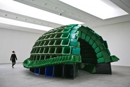 Sculpture by Brian Jungen