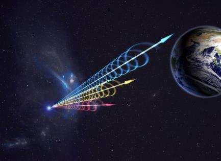 Artists rendering of fast radio waves