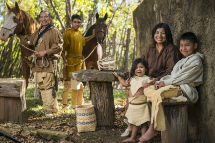 Cherokee Nation citizens dressed in traditional clothin