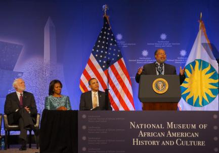 Lonnie Bunch speaks at the museum's ground breaking ceremony