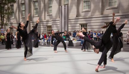 Dancers in performance