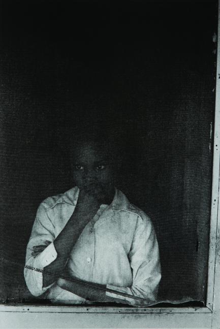 Girl in Screen Door