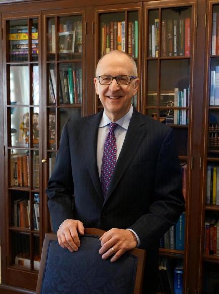 Dr David Skorton in Library
