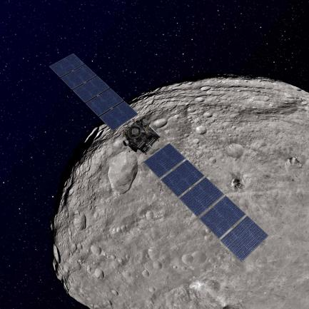 Artist's rendering of Dawn spacecraft
