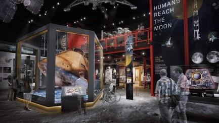 Artist rendering of Destination Moon Gallery