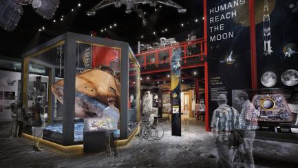 Artists rendering of Destination Moon Gallery