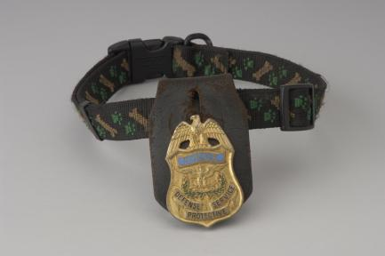 Collar with K9 police badge