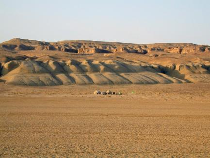 Field camp seen from a distance