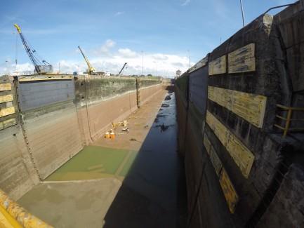 Empty Panama Canal lock