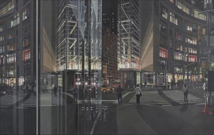"Richard Estes ""Columbus Circle at Night"""