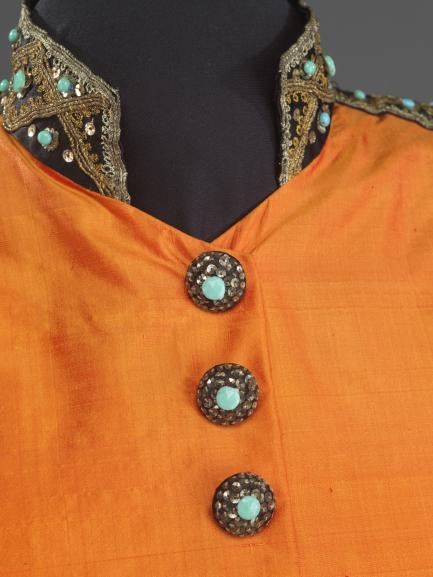 Marian Anderson concert ensemble, collar detail