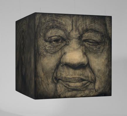 Three dimensional portrait cube