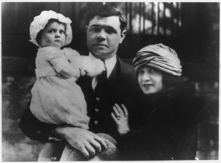 Ruth with wife and daughter