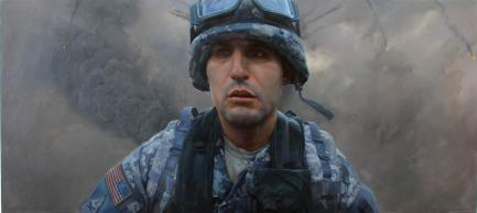 Painting of soldier