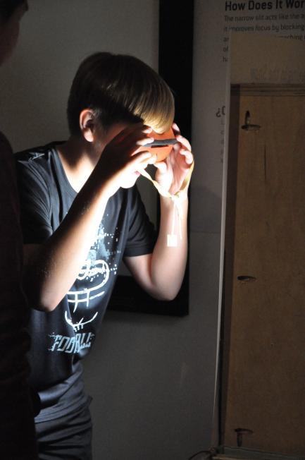 Child using Arctic sunglasses