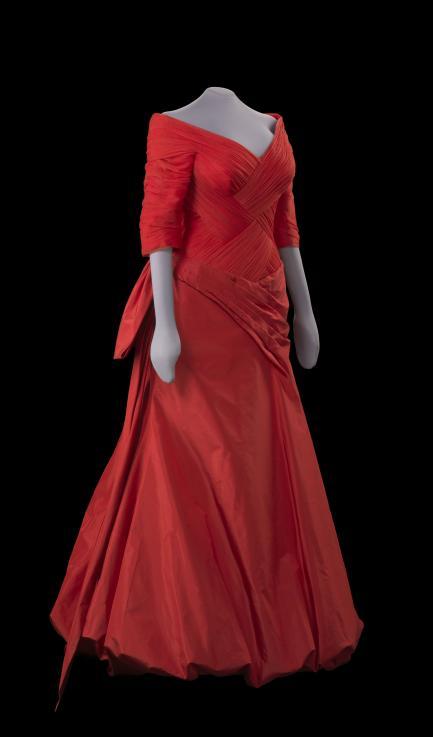 red ballgown