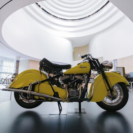 Yellow Indian motorcycle