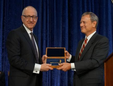 Skorton with Chief Justice John Roberts