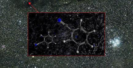 Graphic of benzonite molecule